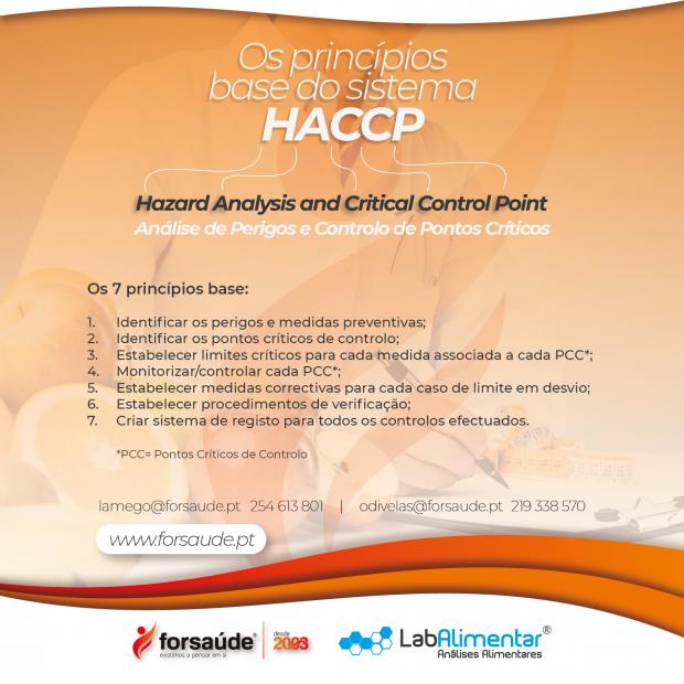Tem implementado na sua empresa o sistema HACCP? Saiba mais, fale connosco.